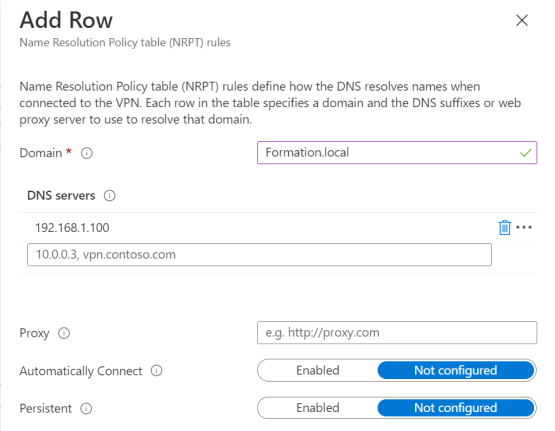 Add DNS Server name