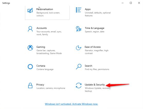 open update & security parameter
