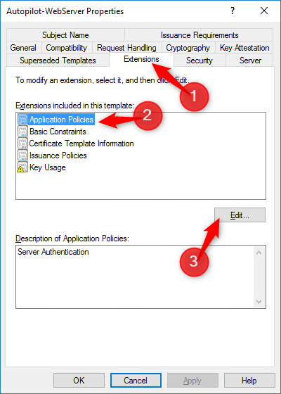 Select Extension tab