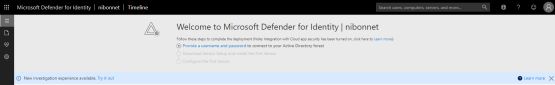 Defender for Identity - Instance of Microsoft Defender for Identity has been created