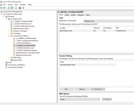 Configure Group policy for SAMR