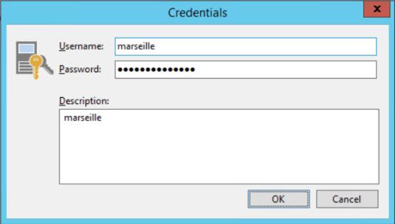 Enter credentials Cloud Connect for Enterprise