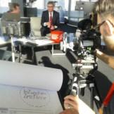 Ein Filmset mit einer Interviewszene von InZwischenZeit: Filme Filmproduktion für Veranstaltungs- und Unternehmensfilm