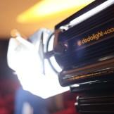 Eine Dedolight Lampe auf einem Dreh von InZwischenZeit:Filme