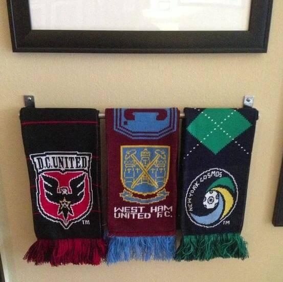top 5 soccer scarf display ideas