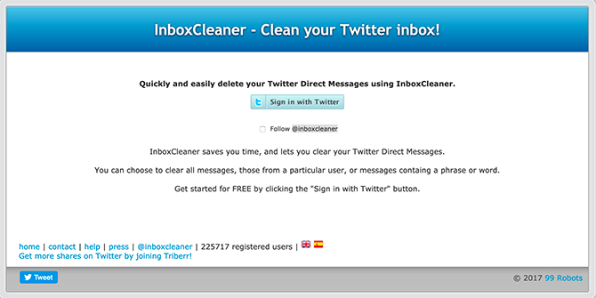 Inbox Cleaner Twitter