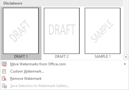 How to Create Professional Reports and Documents in Microsoft Word Watermark