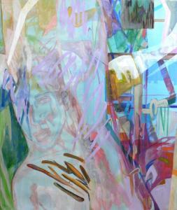 Far Away - Art Basel Miami 2015 group show - 2015 - 140 x 120 cm slash 55 x 47 inches - acrylic on canvas