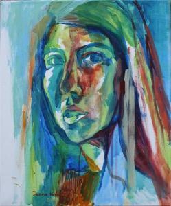 Green Self-portrait - 2014 - acrylic on canvas