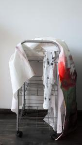 Hotel Room Cleaning Service - 2018 - 63 x 27 x 39 cm - bed sheet, plaster, metal, plastic and acrylic paint
