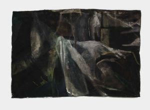 Mereu 8 Rue Seveste 75018 Paris (part of the exhibition) - The Cover - 2015 - 100 x 149 cm slash 39 x 59 inches - oil and bitum on canvas