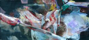The Moon - group expo - 2014 - 90 x 190 cm - oil on canvas