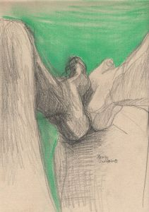 Untilted_8 - 2013 - 32 x 24 cm slash 13 x 9 inches - pastel and pencill on paper