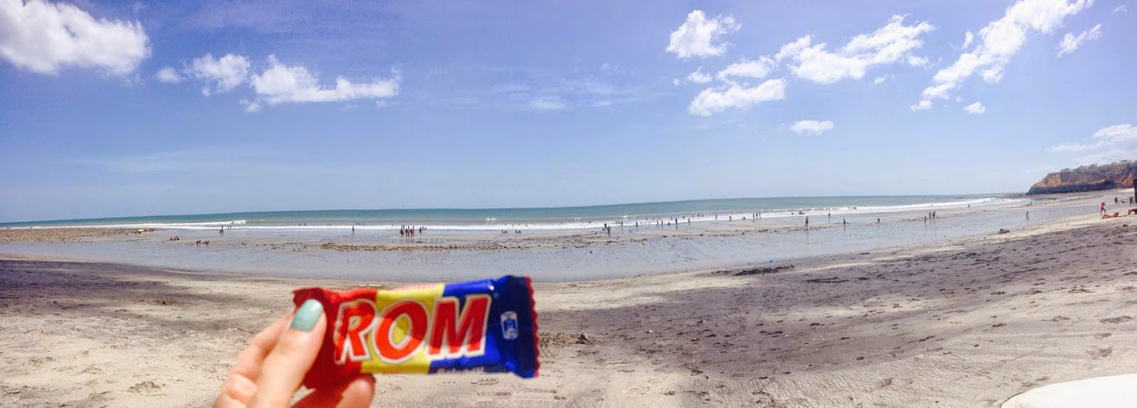Nothing better than a Romanian chocolate bar by the beach