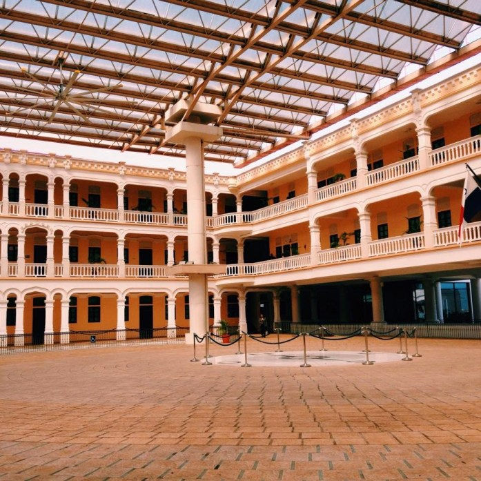 The courtyard inside The Bolivar Palace