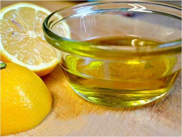 Lămâie și ulei de ricin