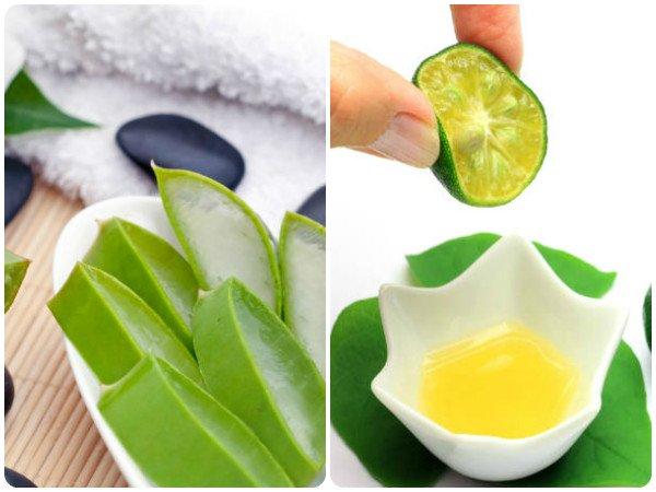 Aloe vera și suc de lămâie
