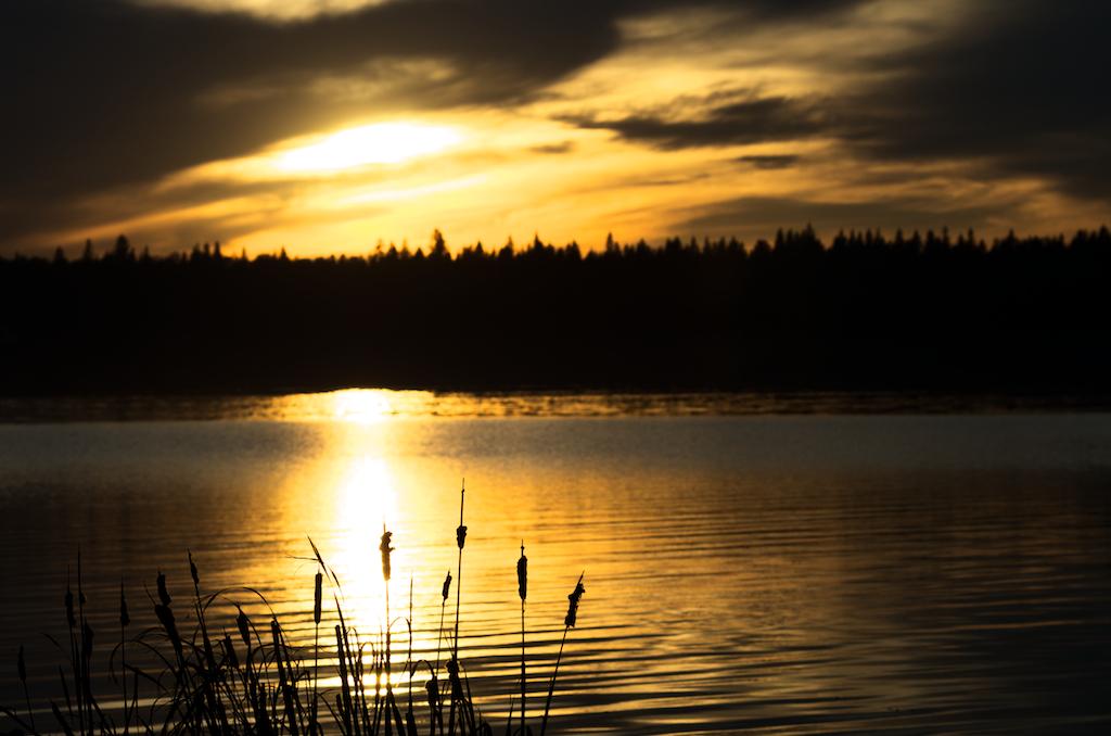Wabamum Lake Alberta Sunset
