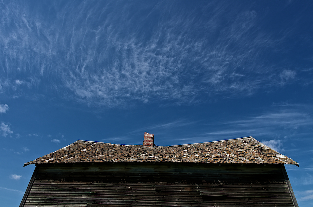 Roof and Chimney of Abandoned Settler's Home