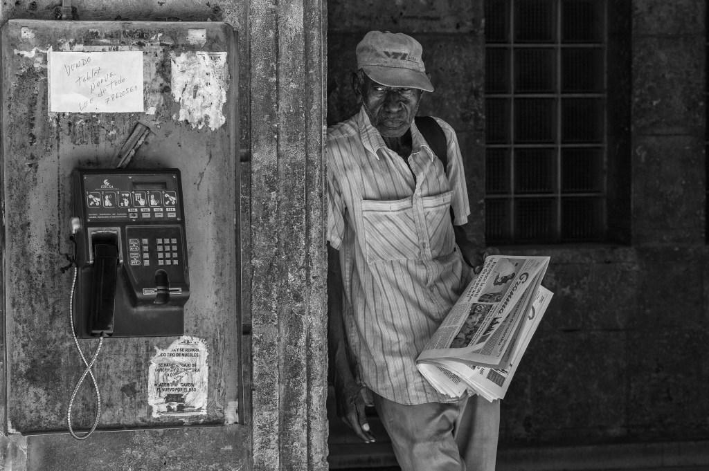 Cuban Newspaper Salesman