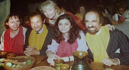 In 1979 in Ennis, Engald, Jose Yaryura-Tobias, MD, set up one of the first meetings ever about OCD along with Ciba Geigy Pharmaceutical (Novartis). In this photo, from right: Dr. Yaryura-Tobias seated next to Fugen Neziroglu, Issac Marks.