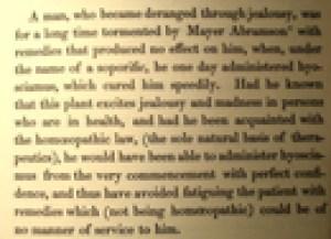 Een casus van Hahnemann, grondlegger van de homeopathie uit zijn standaardwerk, JMKH