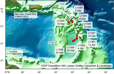 IODP-USIO: Expeditions: Lesser Antilles Volcanism & Landslides