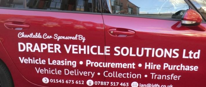 Ian Draper of Draper Vehicle Solutions Ltd, sponsors a vehicle for IODPA