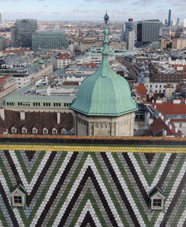 La vista dalla Torre Sud di Stephansdom