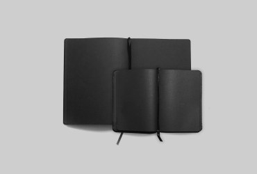 Write down different with this elegant total black notebook