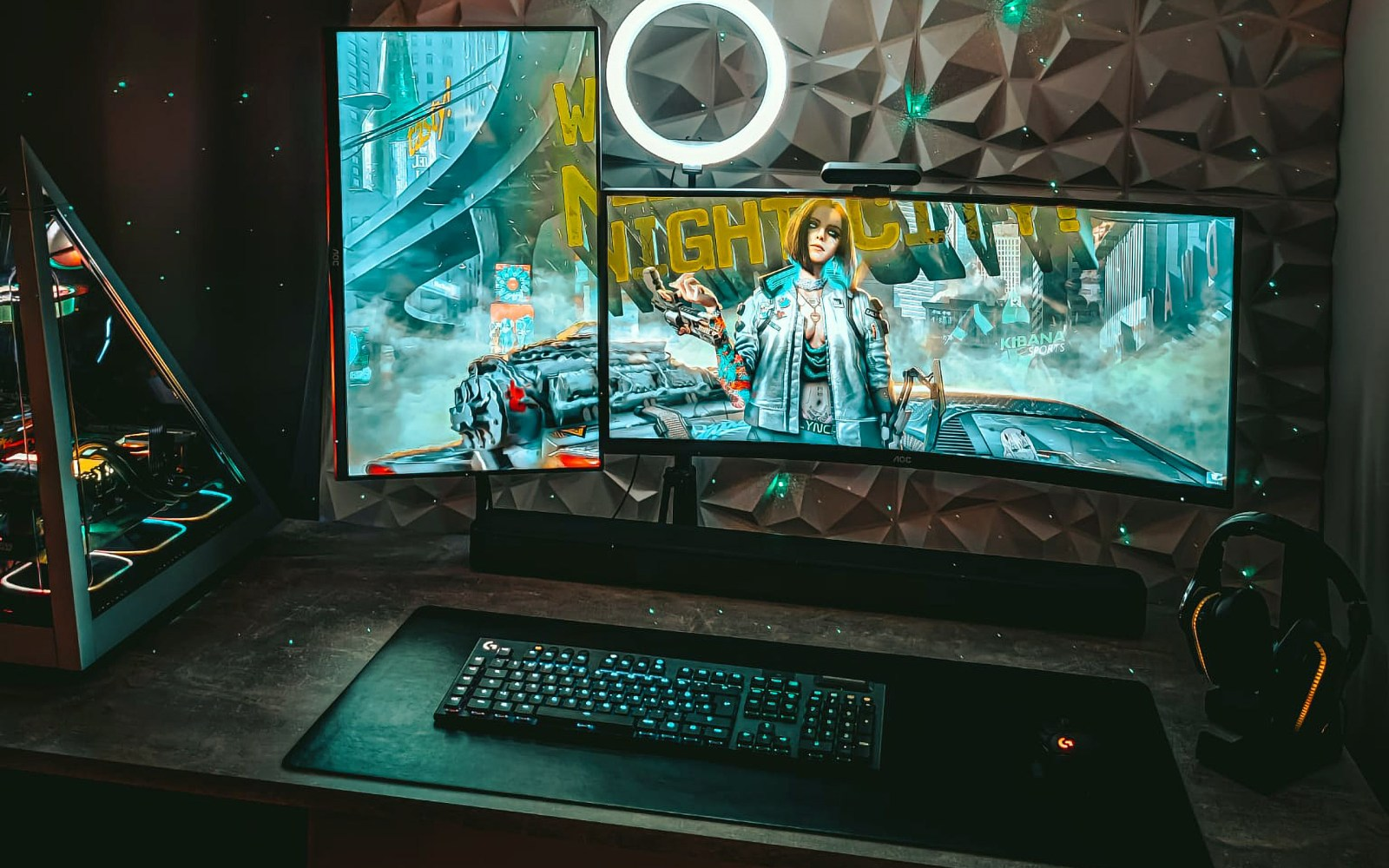 A pyramid of technology and maximum attention to detail in this fabulous pc desktop setup