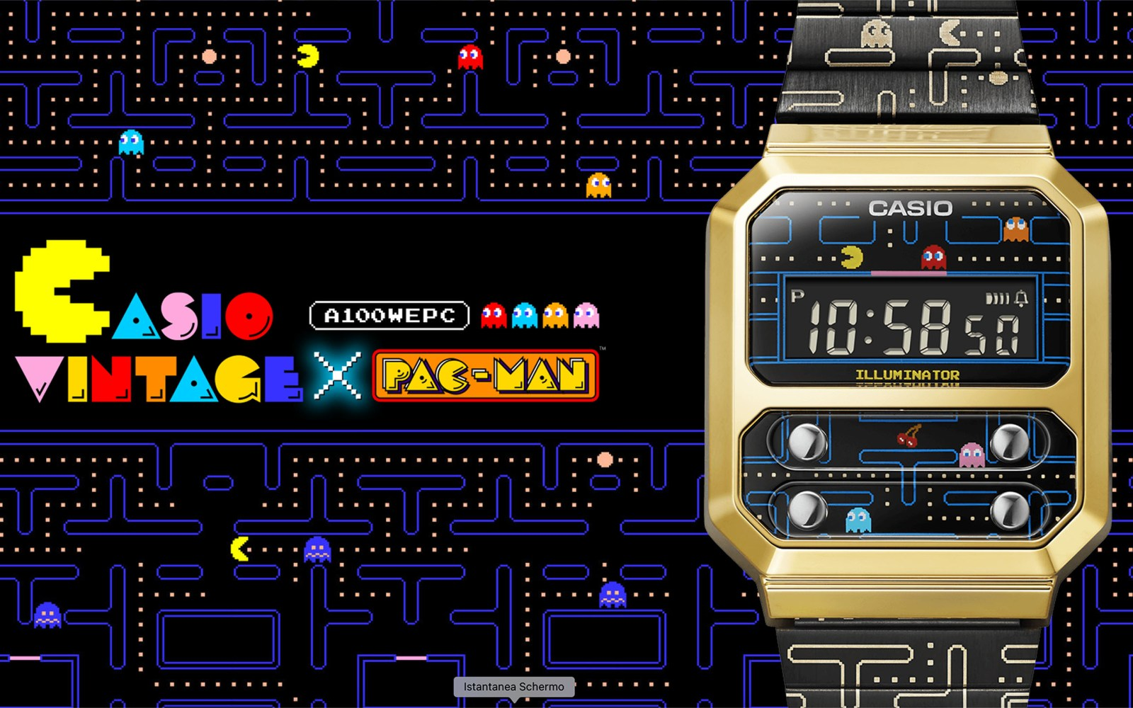CASIO×PAC-MAN: a collaboration between two legends of the 80s