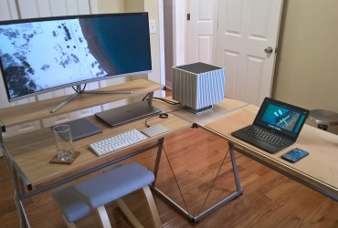 Quality, longevity and simplicity in this tidy setup for study and entertainment