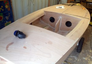 Boat ready for finishing