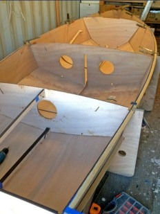 Bare hull with bulkheads