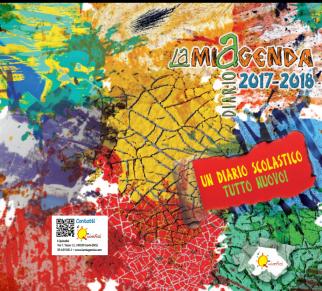 LamiAgenda 2017/2018: copertina della brochure e composizione grafica con le foto astratte di Roberto Alborghetti