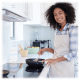 Kitchen Safety Featured Image | Woman Cooking