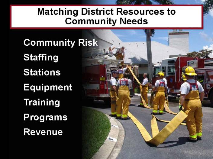 District Resources and Community Needs