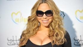 American singer Mariah Carey poses durin