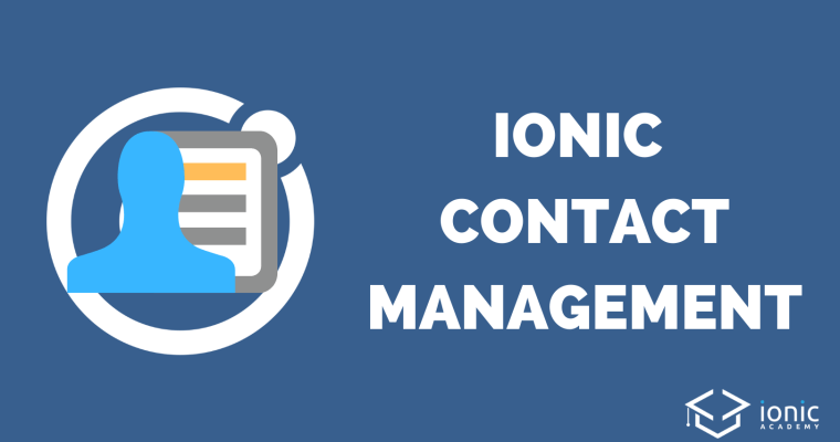 ionic-4-contact-management