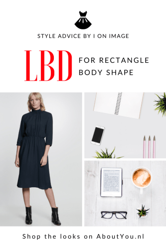 little black dress for rectangle body shape