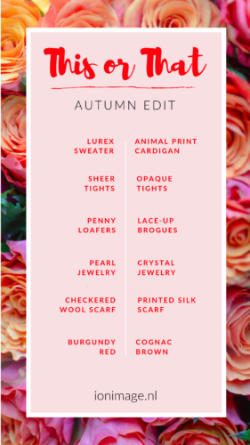 Autumn Style Inspiration + Free THIS or THAT -style game