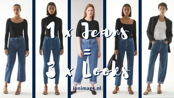 1 pair of COS jeans, 3 different looks styled by your virtual fashion stylist Jenni at I on Image