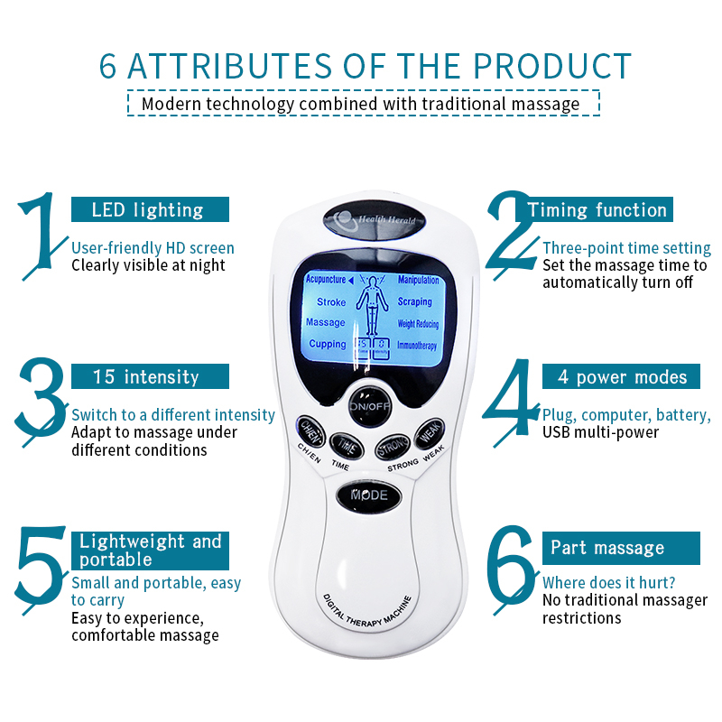 Electrotherapy Immune Stimulation with 15 different intensities, LED Lighting Tens unit