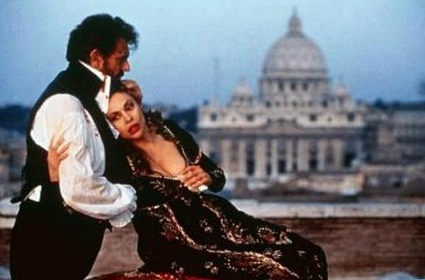 Catherine Malfitano y Placido Domingo en la película de  Giuseppe Patroni Griffi de 1992