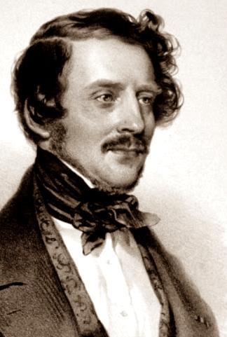 Gaetano Donizetti litografía de Joseph Kriehuber 1842