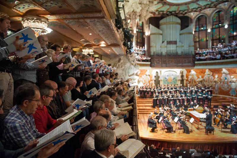 Mesias Handel concierto participativo la Caixa Palau de la música Barcelona