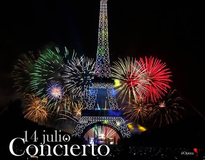 Concierto 14 julio París 2018
