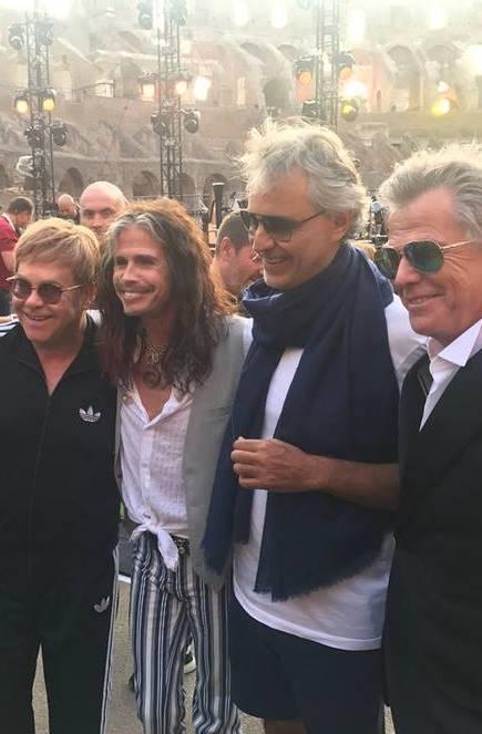 Andrea Bocelli en el Coliseo de Roma