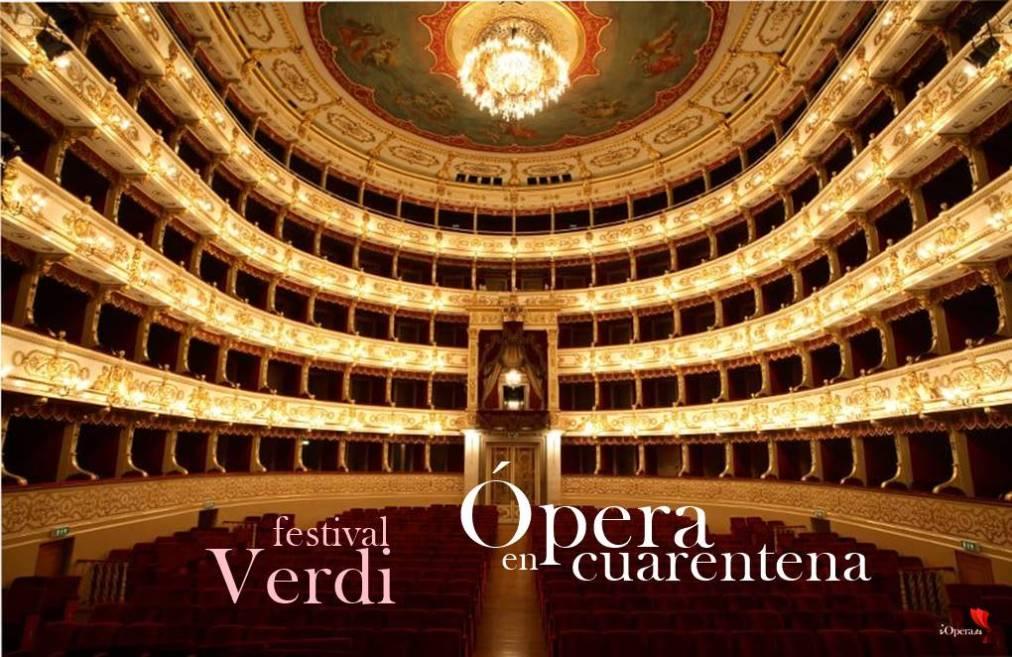 Ópera en cuarentena festival Verdi Regio Parma vídeo